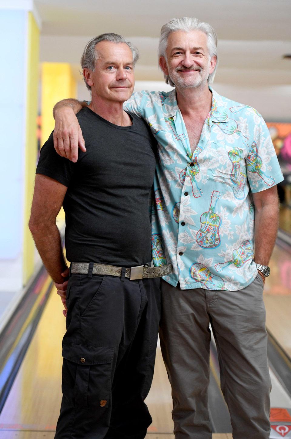 Von links: Ralf Huetter (Regisseur), Frank (Dominic Raacke)